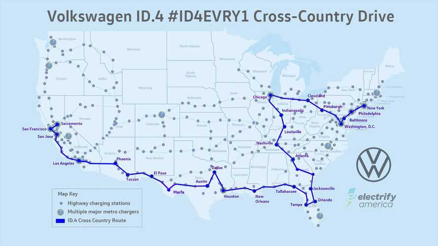 Volkswagen ID.4 Completes A Cross-Country Trip Using EA Chargers