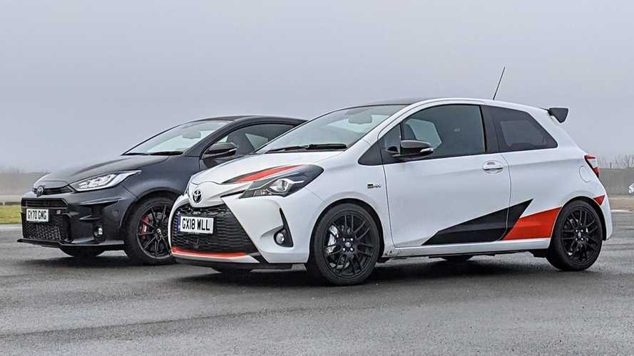 Toyota GRMN Yaris Drag Races GR Yaris In Hot Vs Hotter Hatch