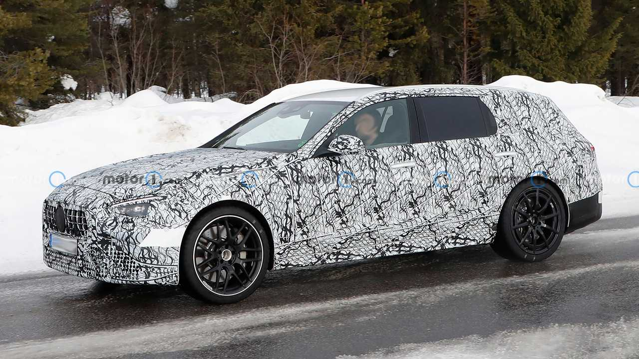 The C63 Estate is testing in Scandinavia.