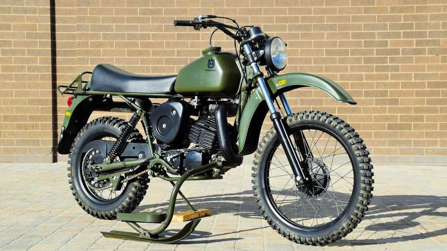Ski-Equipped Husqvarna Model 258 Military Goes To Auction