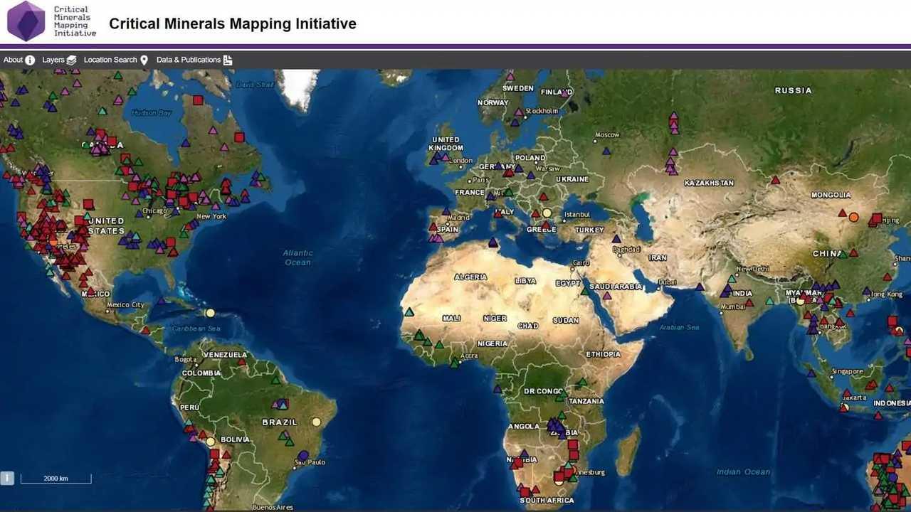 Screen della mappa interattiva
