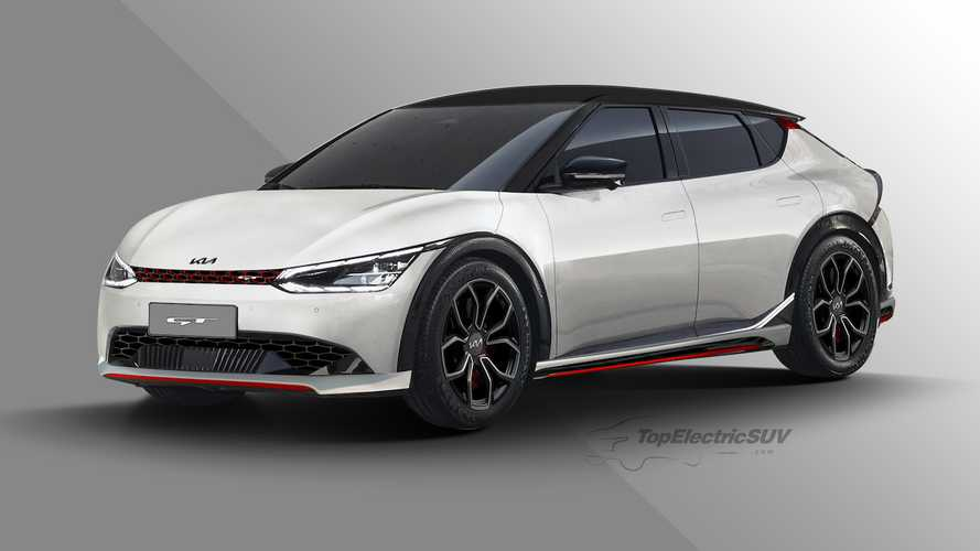 Kia EV6 GT Rendered With Sporty Design Cues