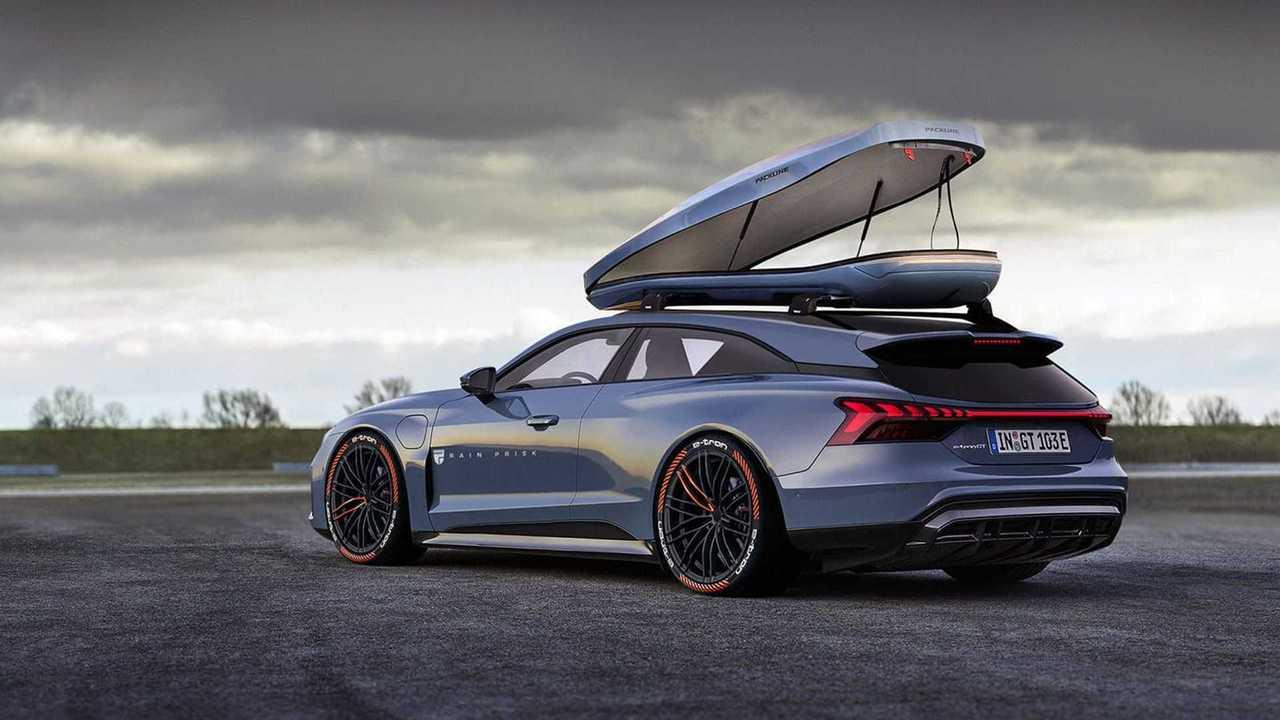 Посмотрите, каким шутинг-брейком может стать Audi e-tron GT