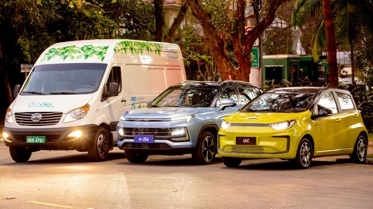 jac carros eletricos brasil