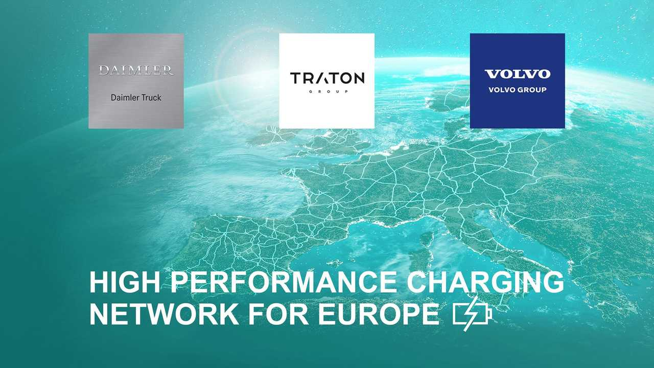 Volvo Group, Daimler Truck and the TRATON GROUP plan to pioneer a European high-performance charging network for heavy-duty trucks