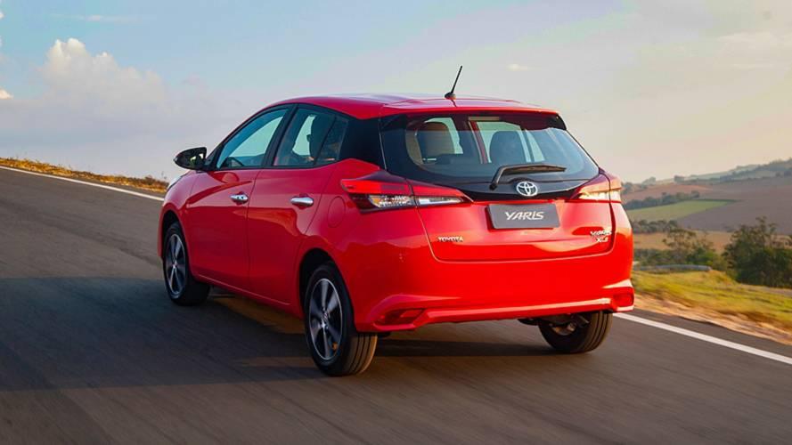 Mais vendidos no varejo em julho: Toyota Yaris Hatch estreia no top 10