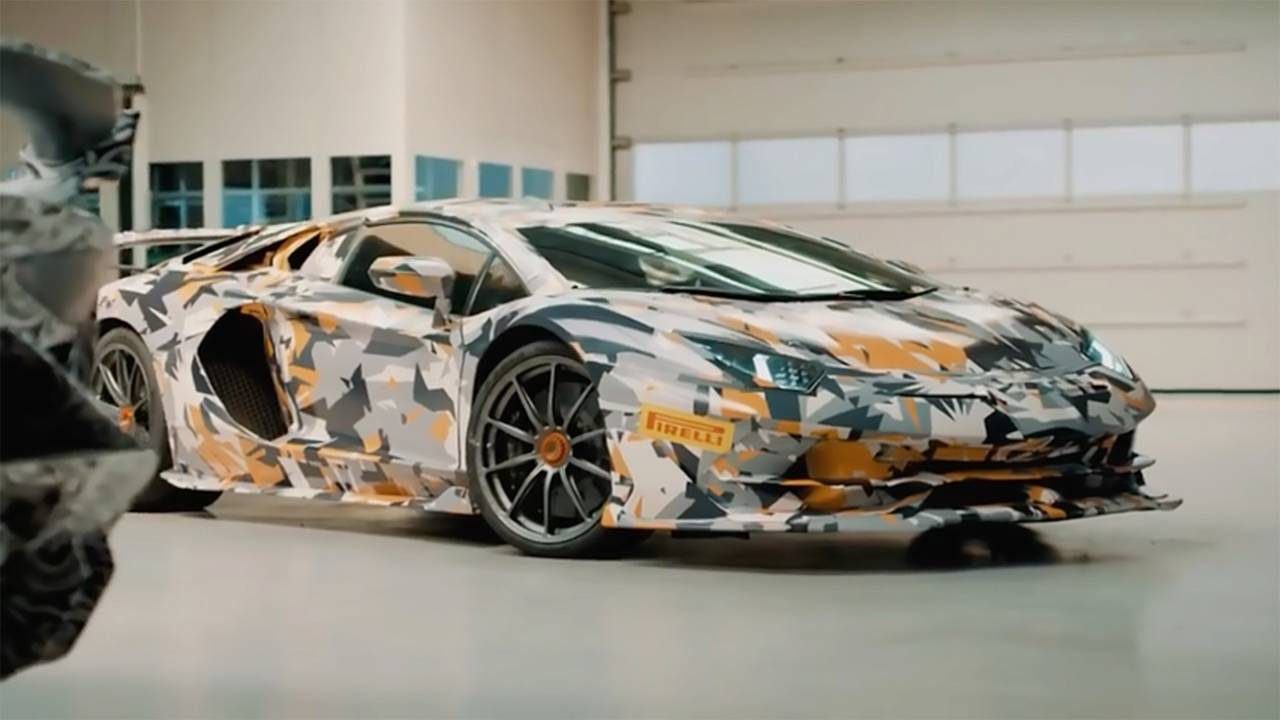 Lamborghini Aventador SVJ Nürburgring Teaser