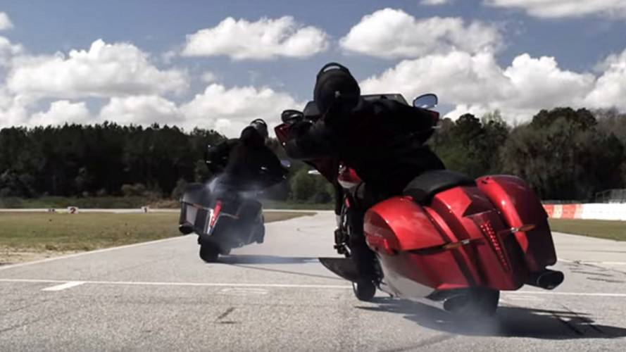 Video of the Day – Drifting Supercharged Victory Baggers