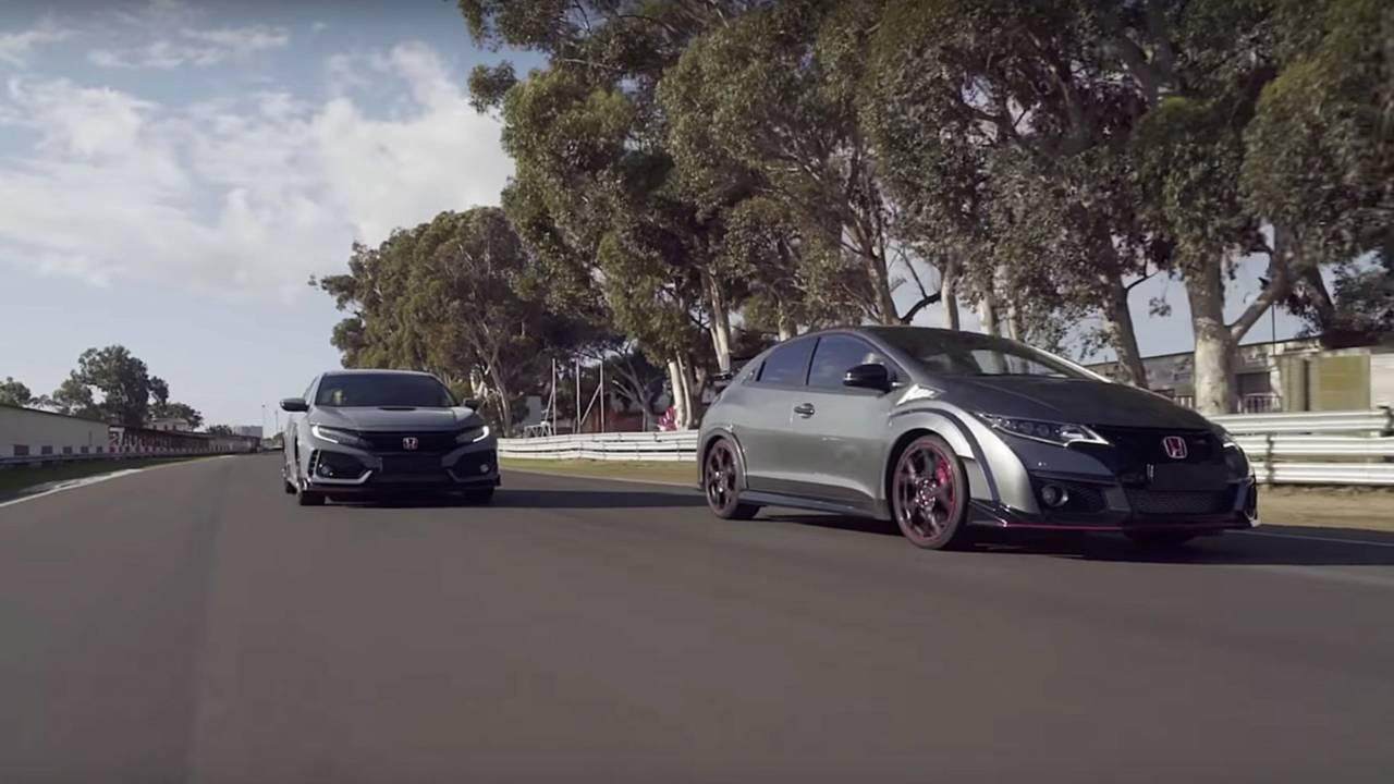 Les 5 générations de Honda Civic Type R en piste