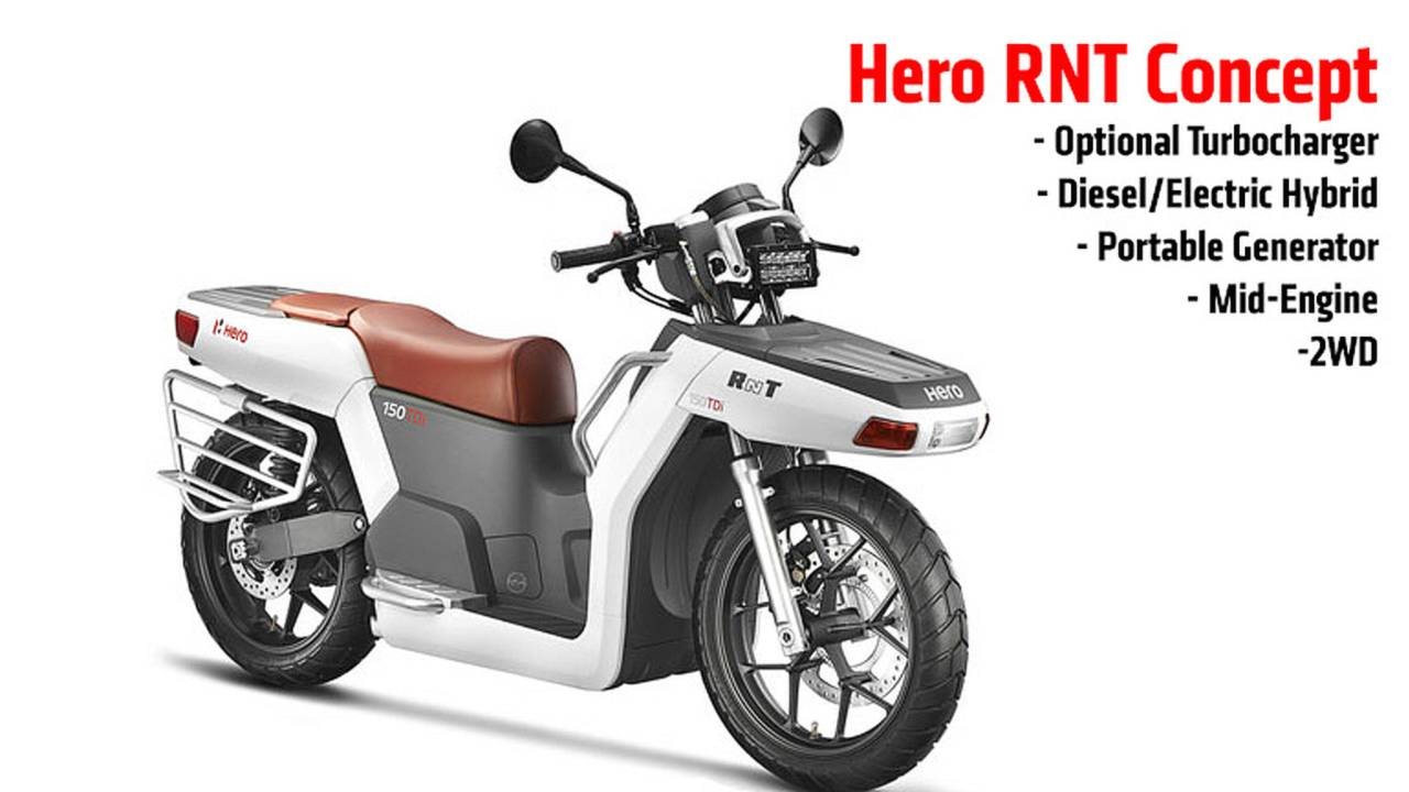 Hero RNT: Two-Wheel Drive, Diesel/Electric Hybrid Scooter Concept