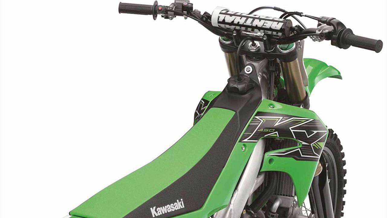 The KX450's bodywork was designed with racing in mind.