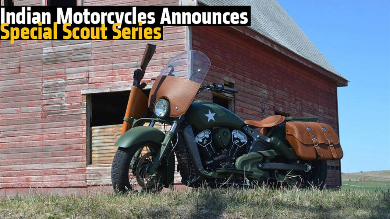 Indian Motorcycles Announces Special Scout Series, Leads with Awesome Military Scout