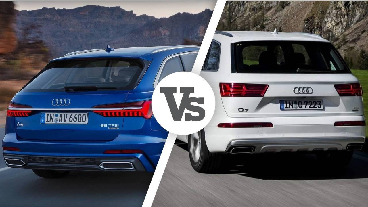 Audi A6 vs Audi Q7 cop