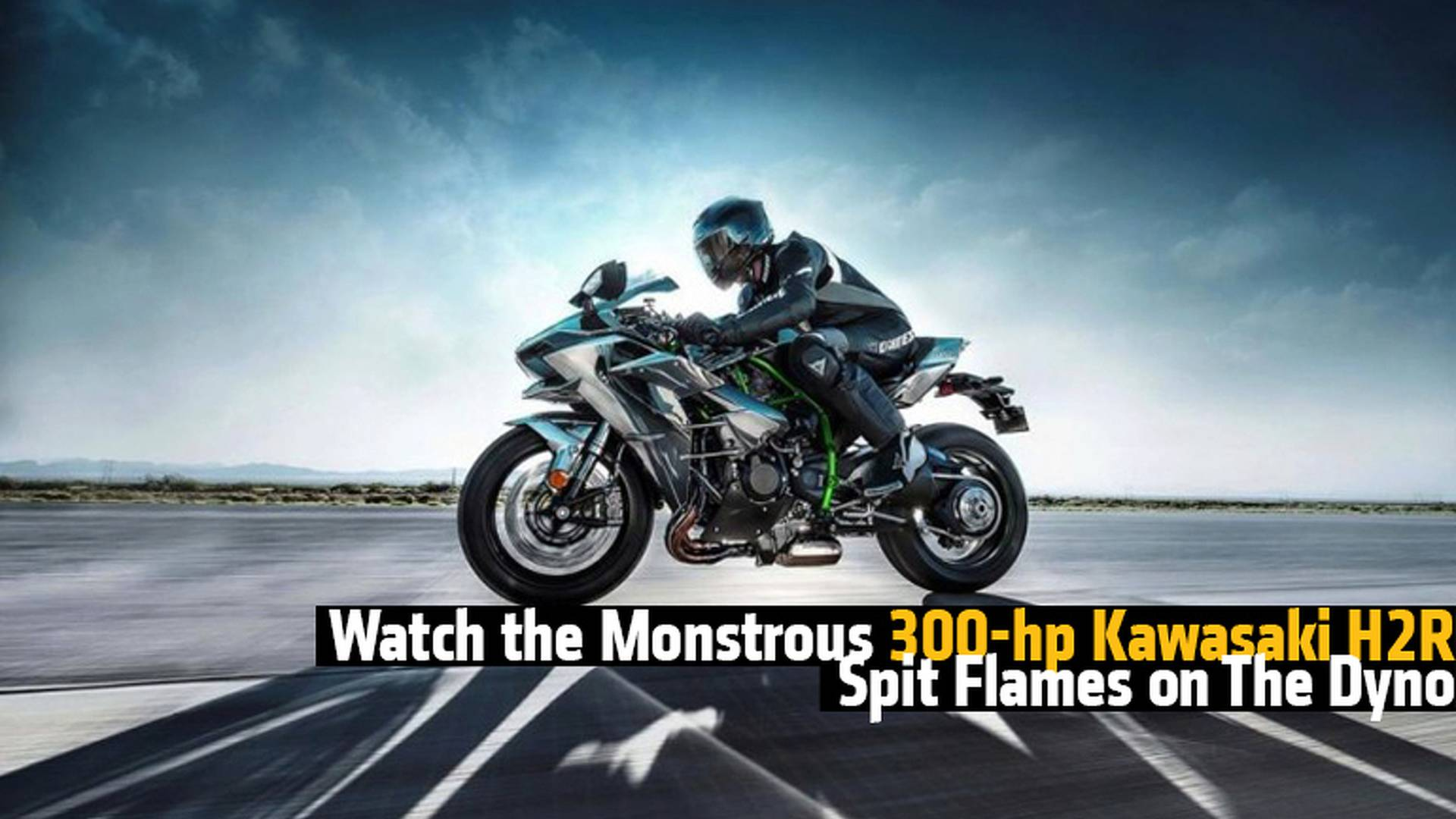 Watch The Monstrous 300 Hp Kawasaki H2r Spit Flames On The Dyno