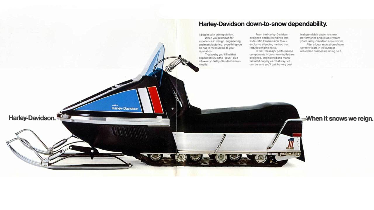 Harley-Davidson/OMC Snowmobile