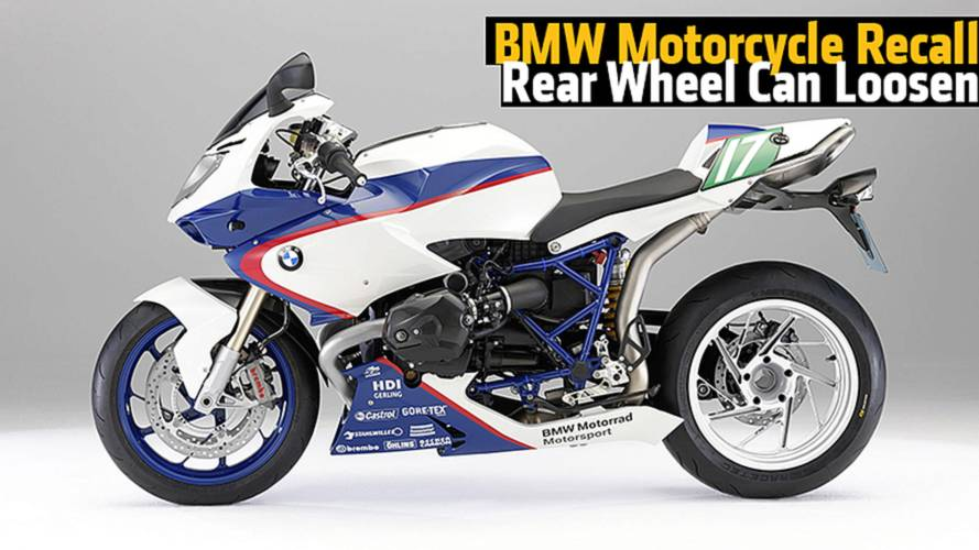 BMW Motorcycle Recall; Rear Wheel Can Loosen