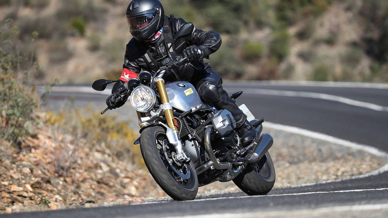 The R nineT carves through corners with ease.