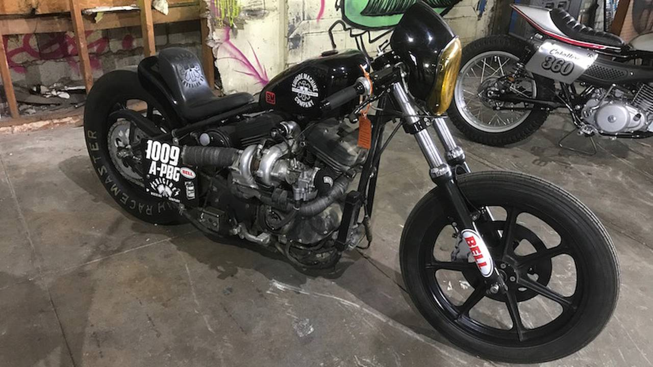 At number five we have the Suicide Machine Company's turbo-charged 2001 Harley sportster build