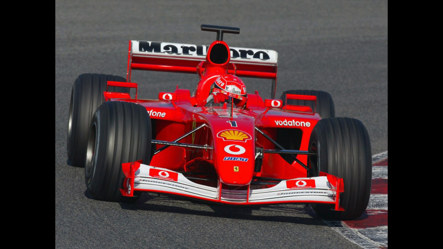 Ferrari F2001, all'asta quella di Schumacher