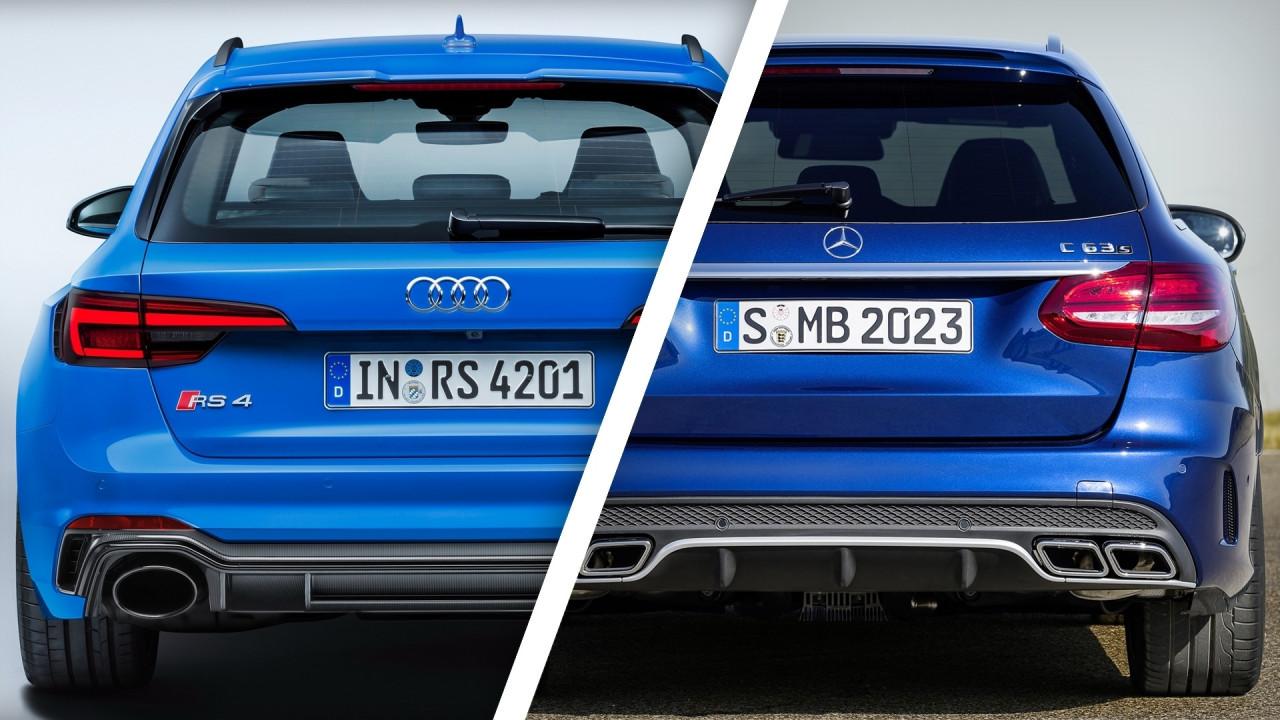 [Copertina] - Audi RS4 e Mercedes C63 AMG, i prezzi delle SW cattive