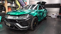Turquoise Chrome Lamborghini Urus