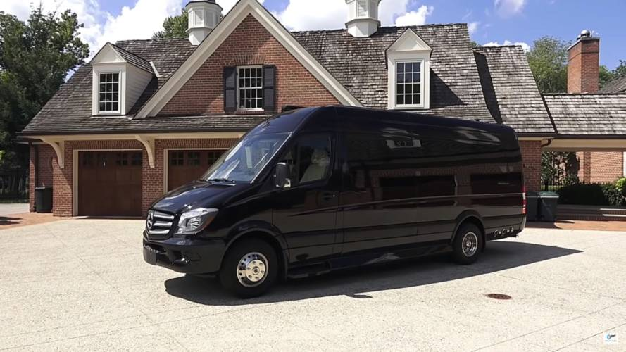 Recreational Vehicles This Posh Mercedes Sprinter Has Its Own Bathroom And Kitchen