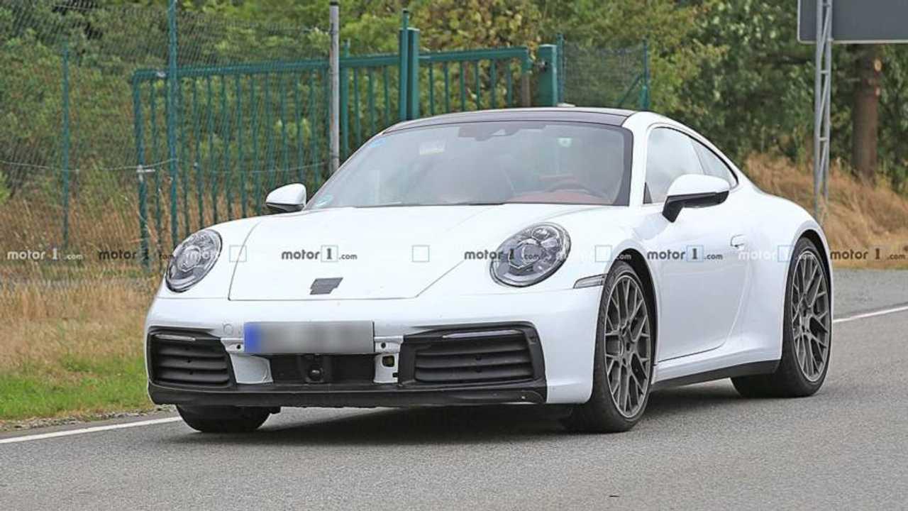 Porsche 911 Beyaz Casus Fotoğraflar