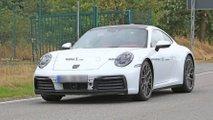 Porsche 911 blanche en photos espion