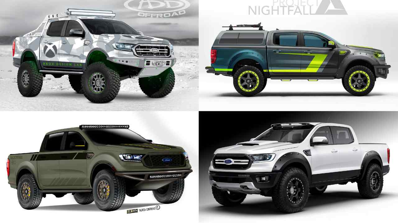 A range of Ford Rangers