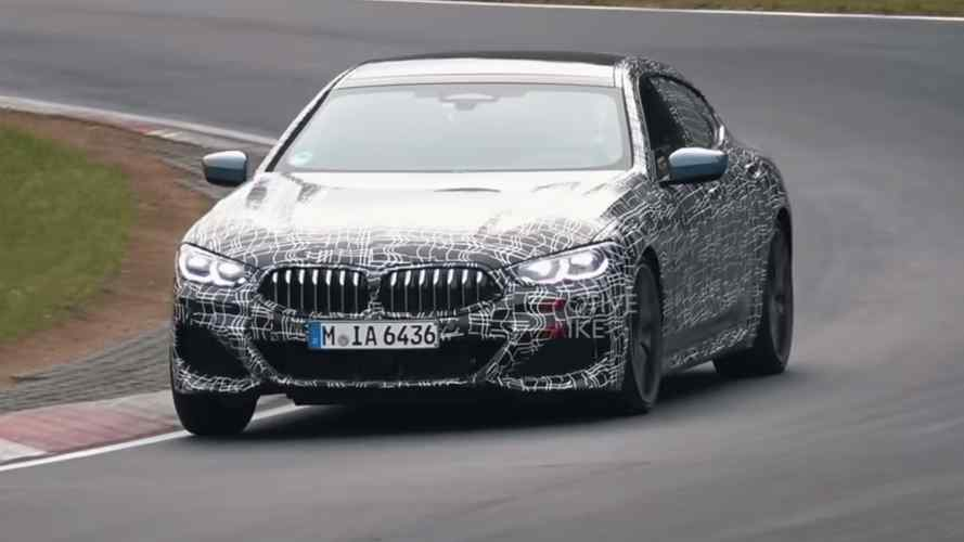 BMW M850i Gran Coupe spied torturing its tyres at the Nurburgring