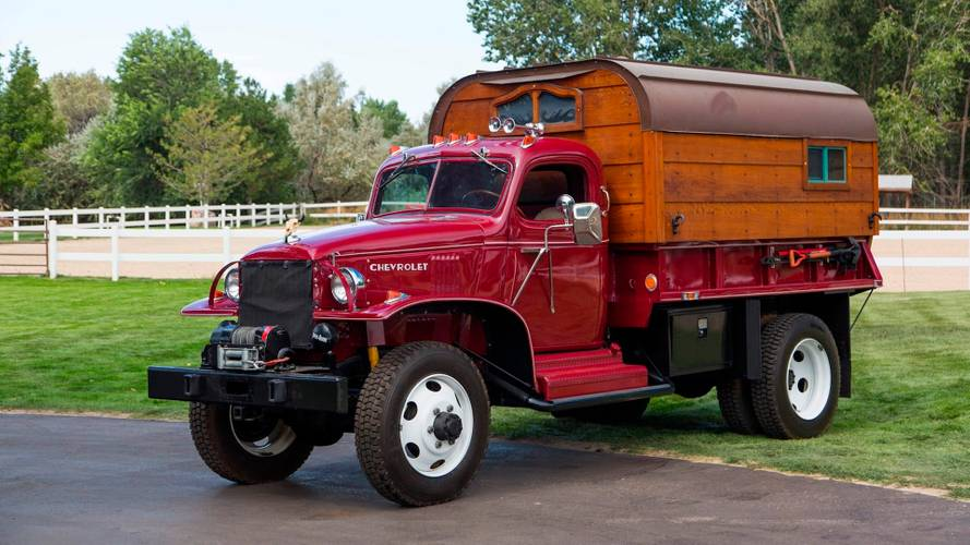 Chevy WWII Army truck converted into camper goes to auction