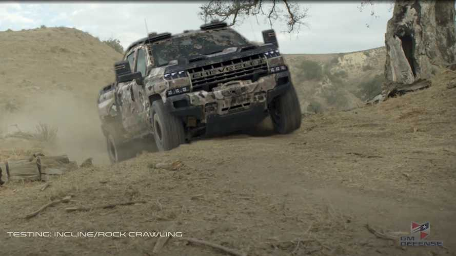 GM Defense Quietly Shows Hardcore Chevy Silverado ZH2 In CG Video