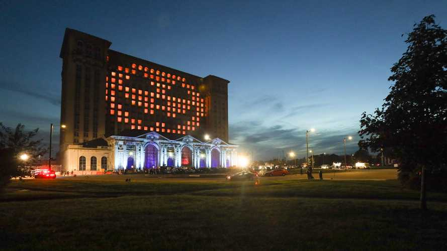 Ford Dressed Up Michigan Central Station For Halloween