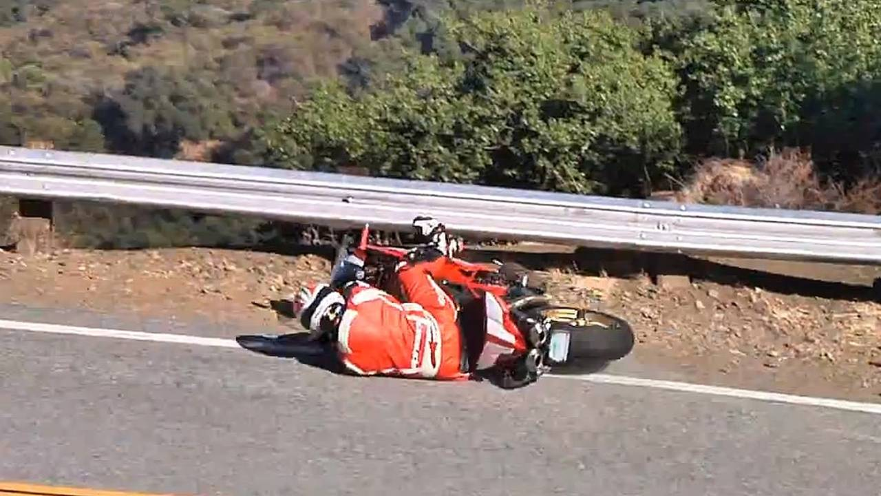 Video: crashing a $140,000 Ducati