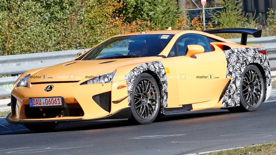 Mysterious Lexus LFA widebody prototypes spied lapping the 'Ring