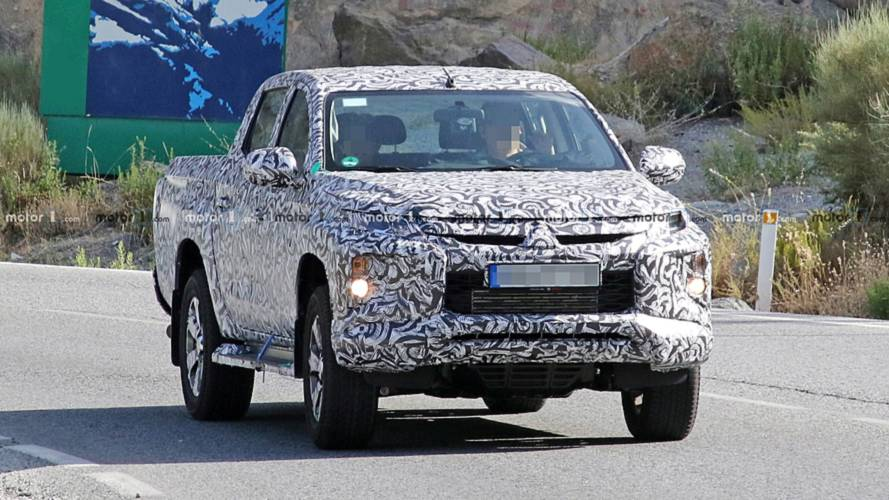 Mitsubishi L200 Pickup Truck Spied With A Facelifted Front Clip