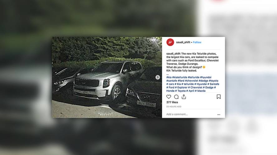 Kia's full-size Telluride SUV caught naked in public