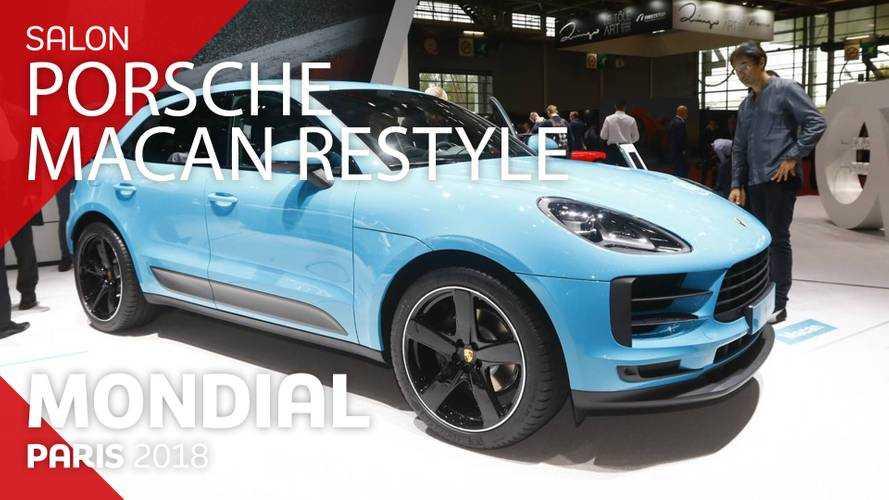 VIDÉO - Le Porsche Macan restylé en direct du Mondial 2018