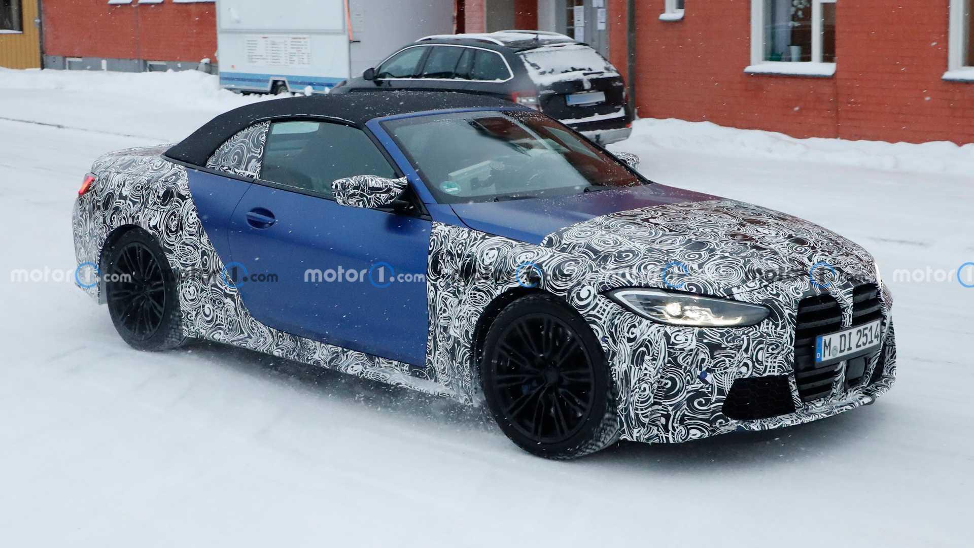 Рестайлинг BMW X3 M 2022 года, новый кабриолет M4 засекли часть тестового конвоя M