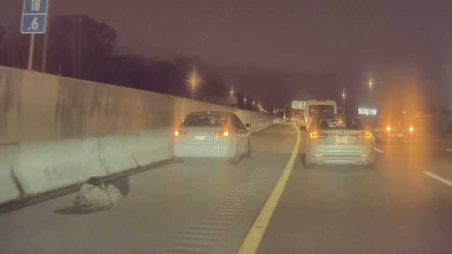 Check Out This Highway Hit And Run Caught On TeslaCam