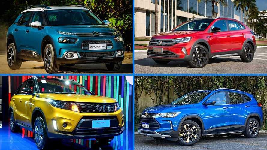 Os 10 SUVs e crossovers compactos com motores turbo no Brasil