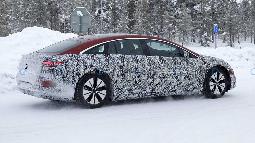 2022 Mercedes EQS Spied With Less Camo To Reveal Liftback Layout