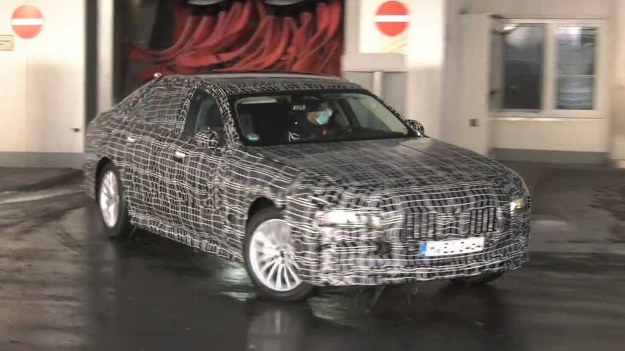 New BMW 7 Series spied taking a shower before heading out for testing
