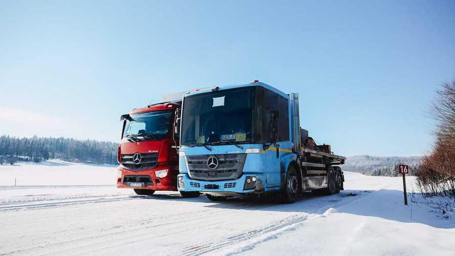 Winter Testing Of Mercedes-Benz Trucks: eActros And eEconic