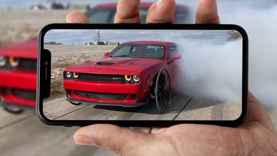 Dodge Challenger Hellcat su ruote da carrozza: può fare un burnout?