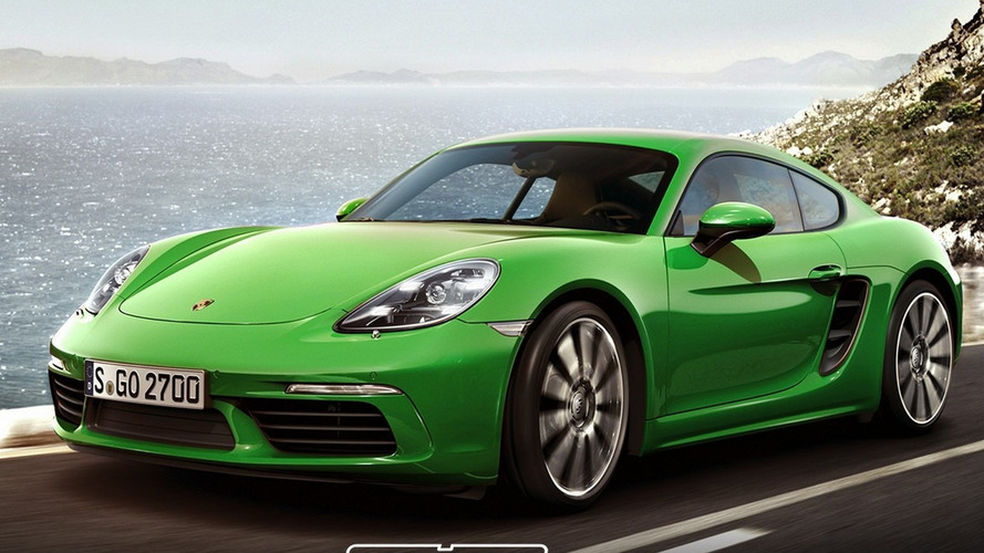 Porsche 718 Cayman S render seems just about right