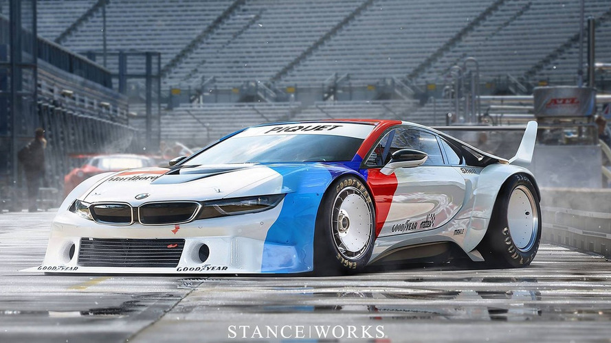 Retro render: BMW i8 as M1 Procar