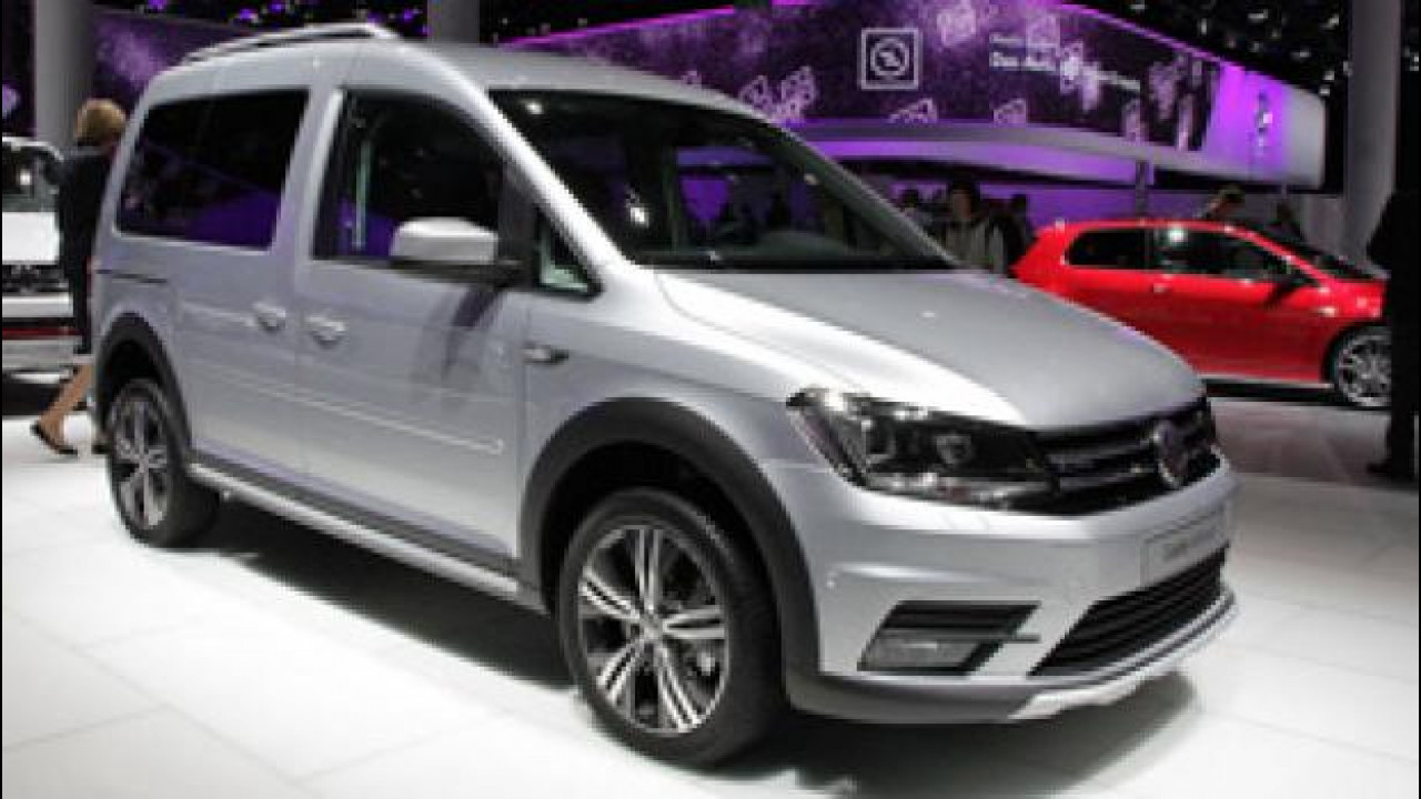 [Copertina] - Salone di Francoforte, Volkswagen porta anche il nuovo Caddy Alltrack