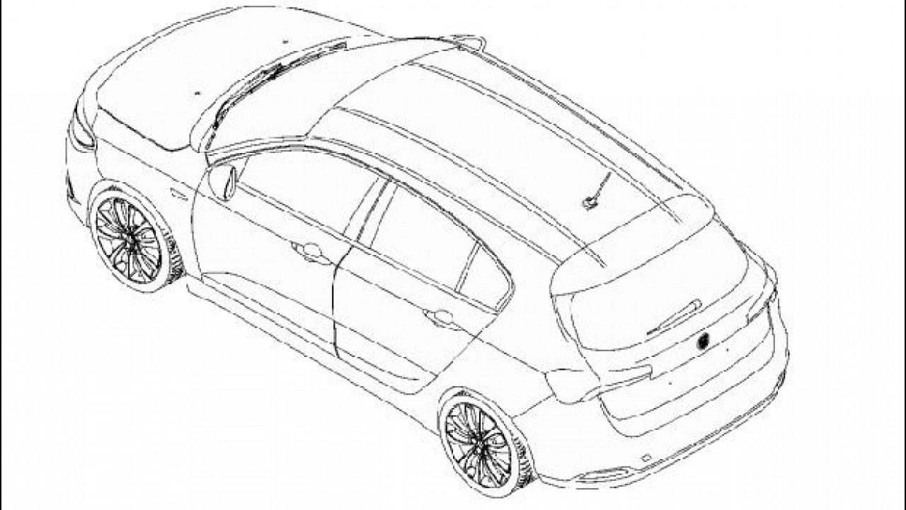 [Copertina] - Fiat Tipo hatchback, sfugge l'immagine del brevetto del posteriore