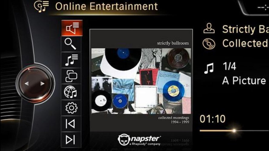 BMW ConnectedDrive: arriva anche Napster